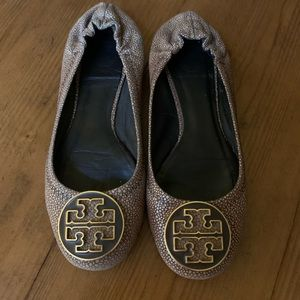 Used Tory Burch Reva flats